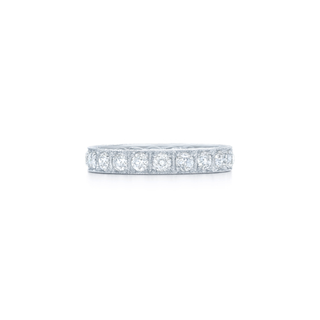 Signed Fred Leighton Old European Cut Diamond Eternity Band Ring W1005-DIA
