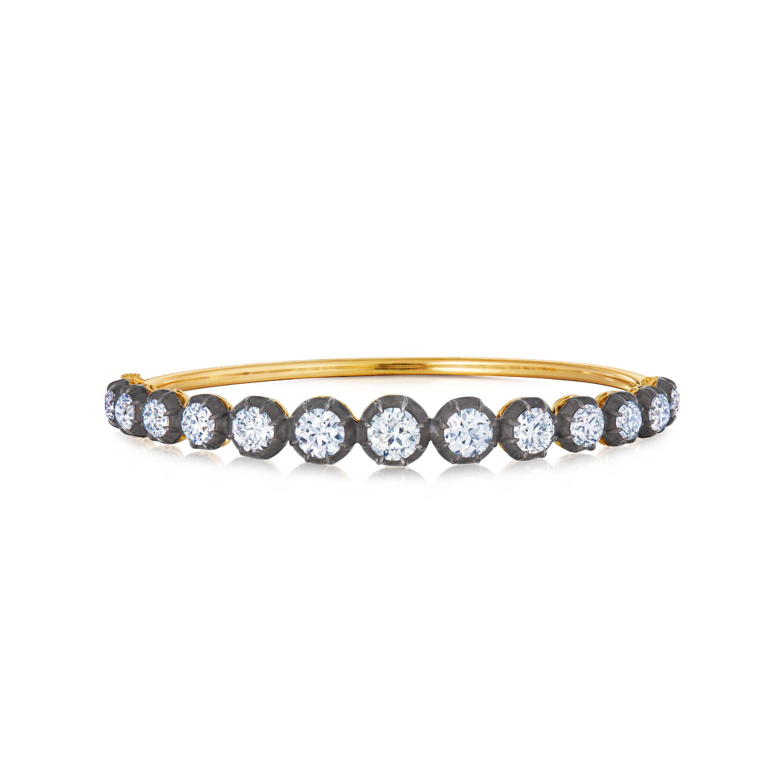 Fred Leighton Round Diamond Collet Bangle Style B-1046FL-0-DIA-SVGO