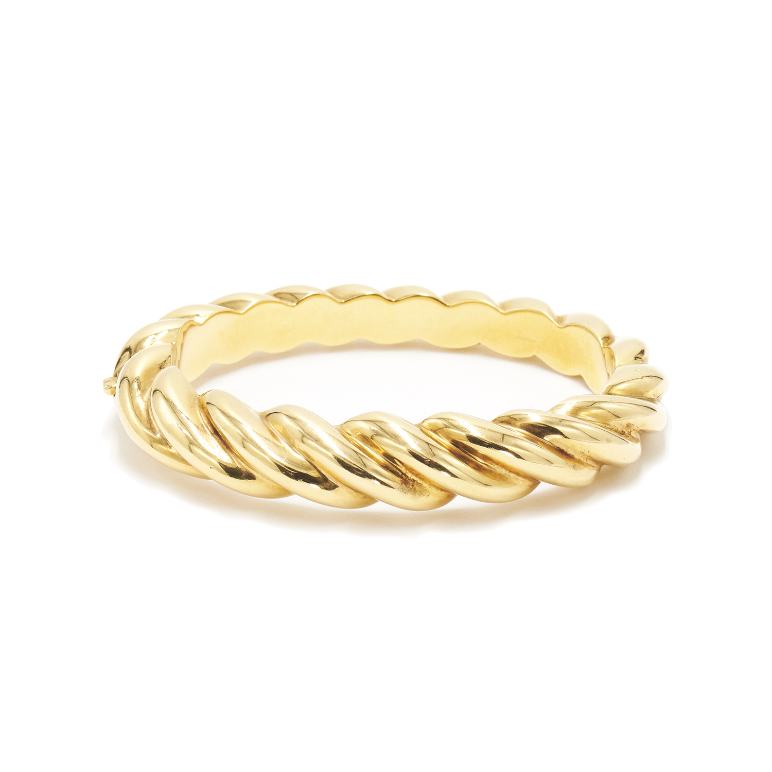 18K Yellow Gold Coil Bangle by Chaumet Style B-38637-FL-0-0