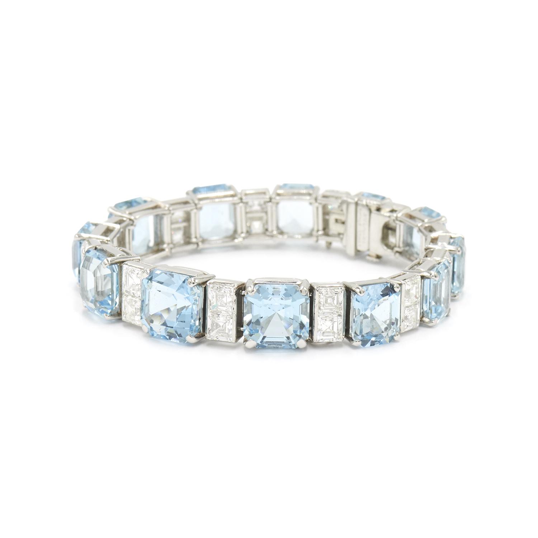 Aquamarine and Diamond Bracelet by Bulgari, Serial FL40671