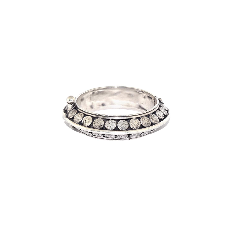 Art Deco Silver Tribal Bracelet Style B-41194-FL-0-0
