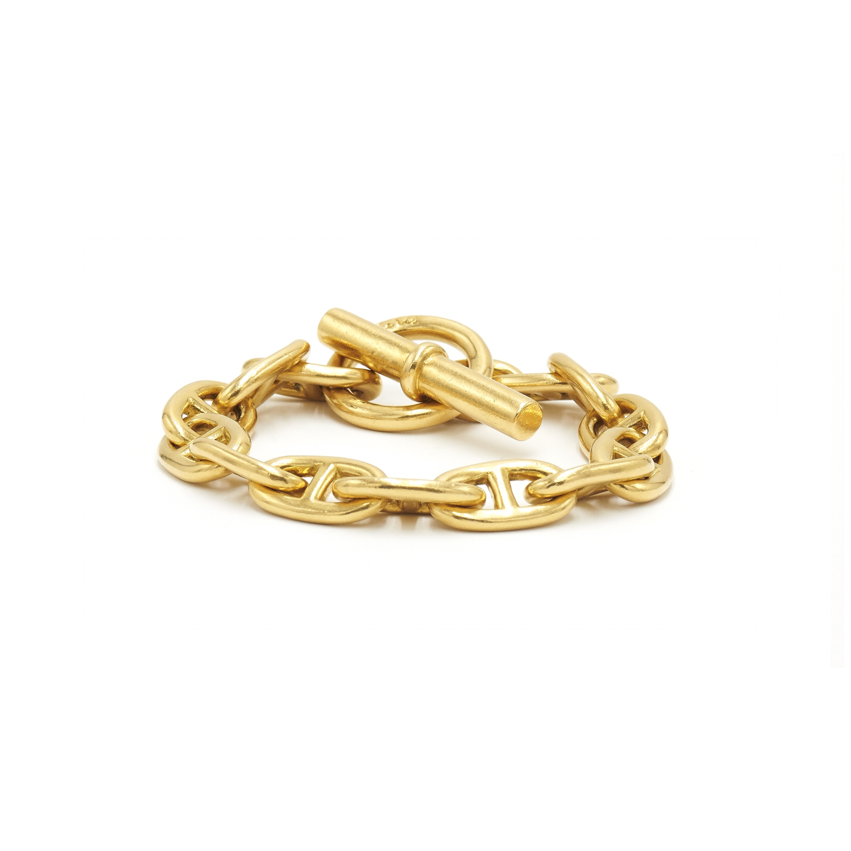 18K Yellow Gold Chaine D'Ancre Bracelet by Hermès Style B-41649-FL-0-0