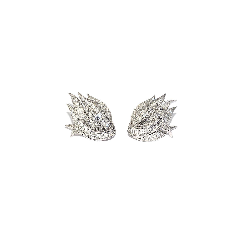 Diamond Spray Earrings by Sterlé Paris Style E-41099-FL-0-0
