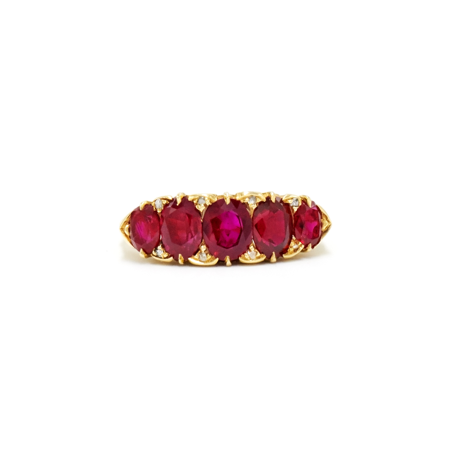 Victorian Ruby Five Stone Ring Style F-20578-FL-0-0