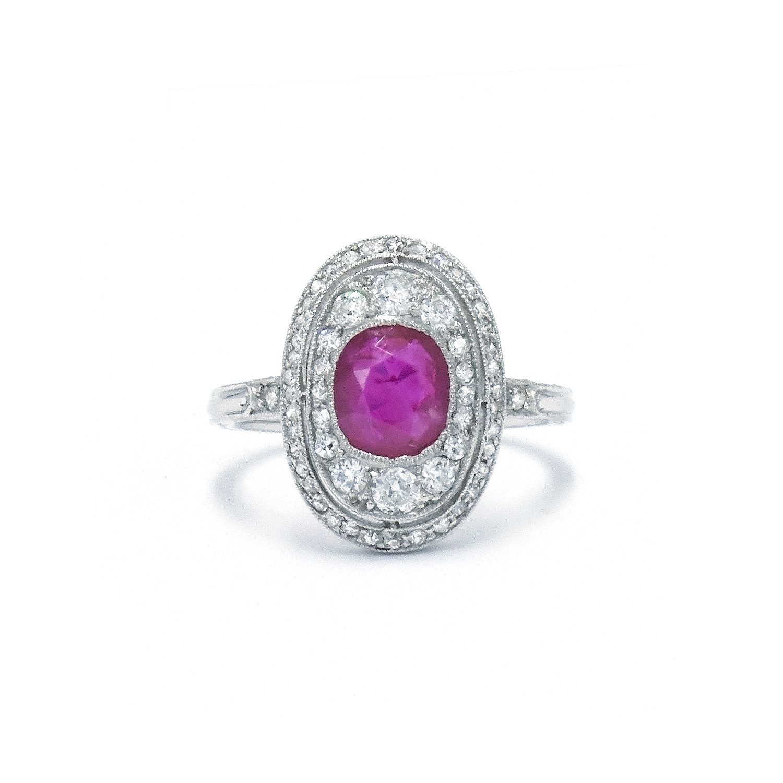 Edwardian Ruby and Diamond Ring Style F-30299-FL-0-0