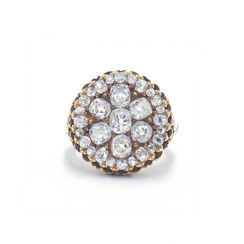 Old Mine Diamond Cluster Ring Style F-32653-FL-0-0