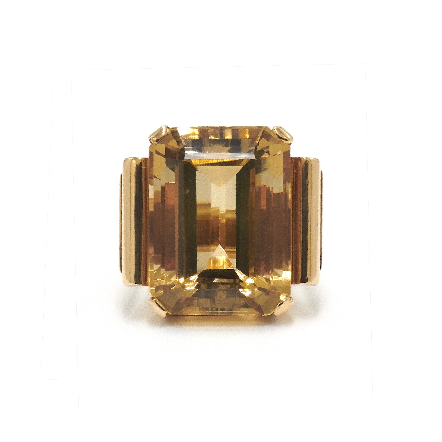 Retro Citrine Cocktail Ring Style F-34026-FL-0-0