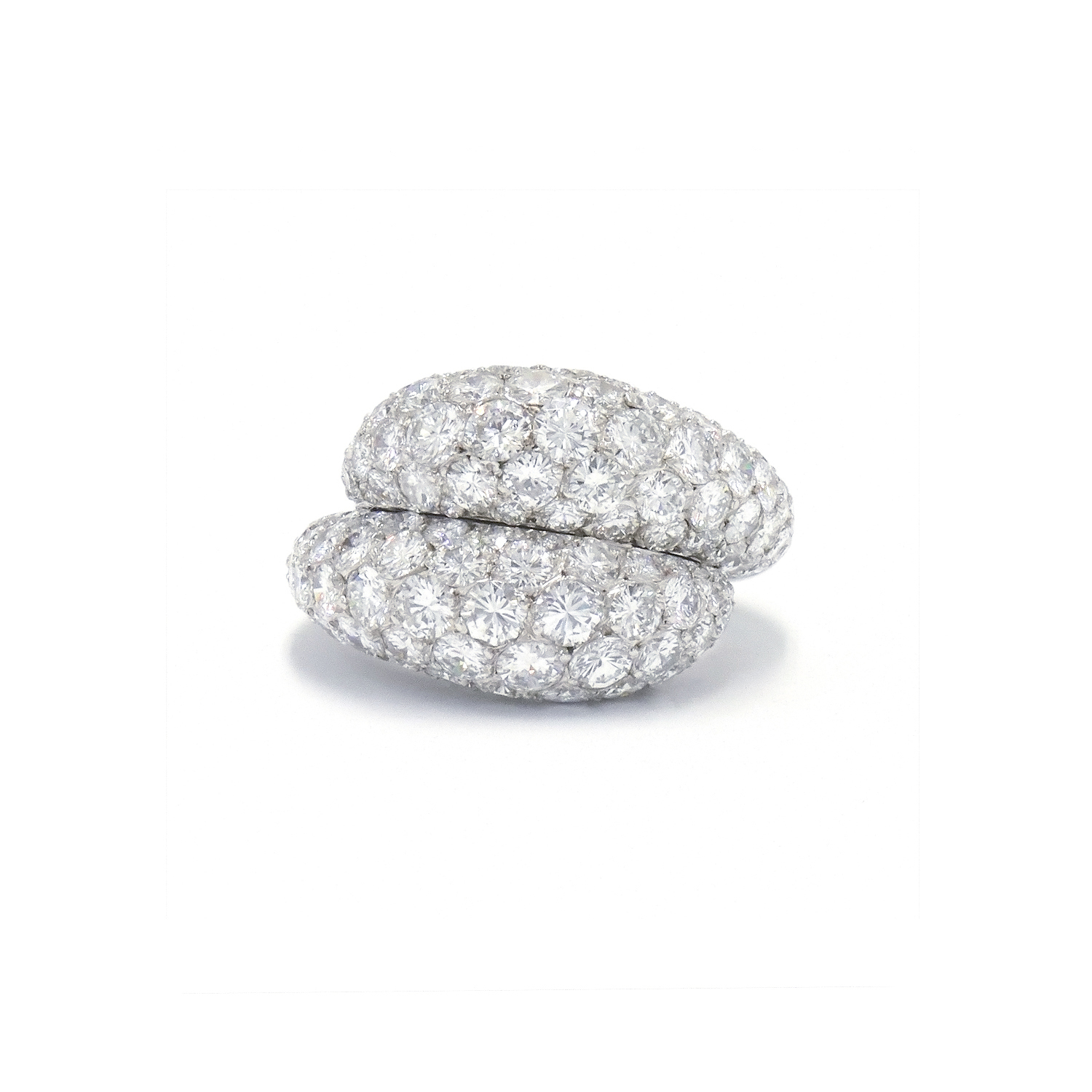Pavé Diamond Bypass Ring by Van Cleef & Arpels Style F-36781-FL-0-0