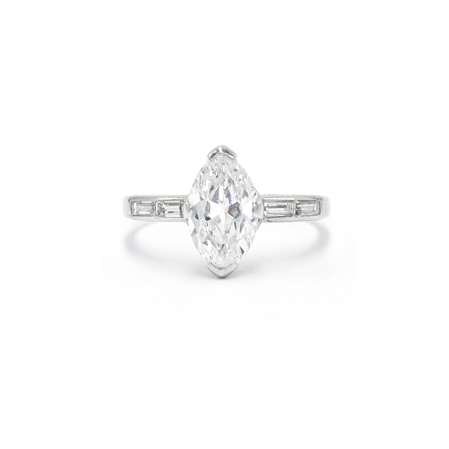 Old Cut Marquise Diamond Ring Style F-38965-FL-0-0