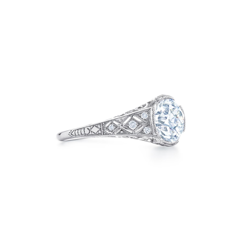 Old European Cut Diamond Ring Signed Fred Leighton Style F1009-DIA