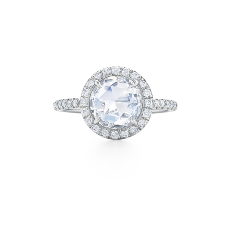 Round Rose Cut Diamond Ring Signed Fred Leighton Style F1019-DIA