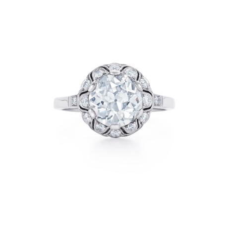 Old European Cut Diamond Ring Signed Fred Leighton Style F1020-DIA