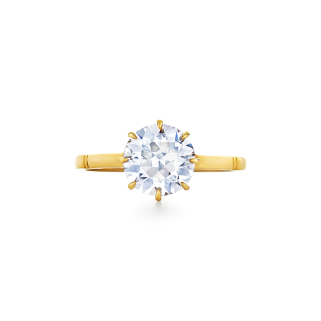 Old European Cut Diamond Solitaire Ring Signed Fred Leighton Style F1032-DIA