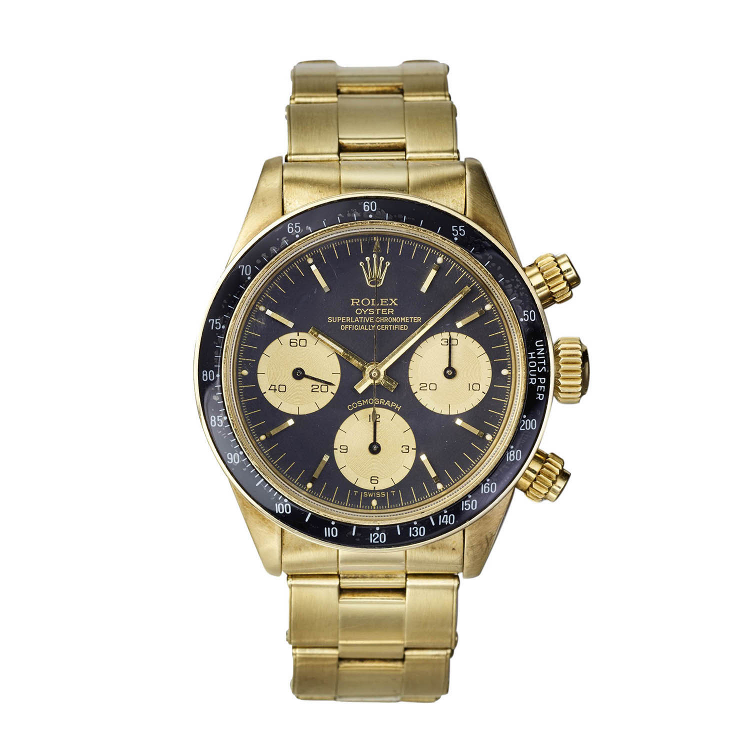 Rolex 18K Yellow Gold Daytona Wristwatch, Serial FL41775