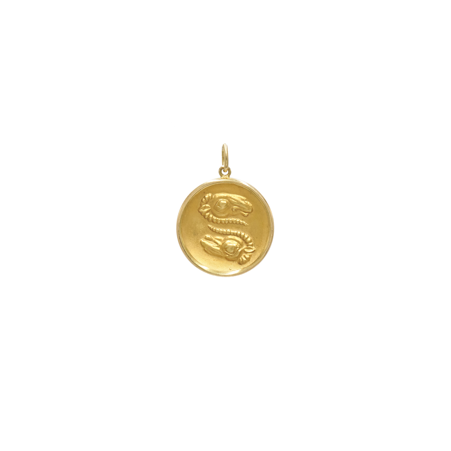 Lalaounis 18K Yellow Gold Zodiac Ares Pendant, Serial FL39636