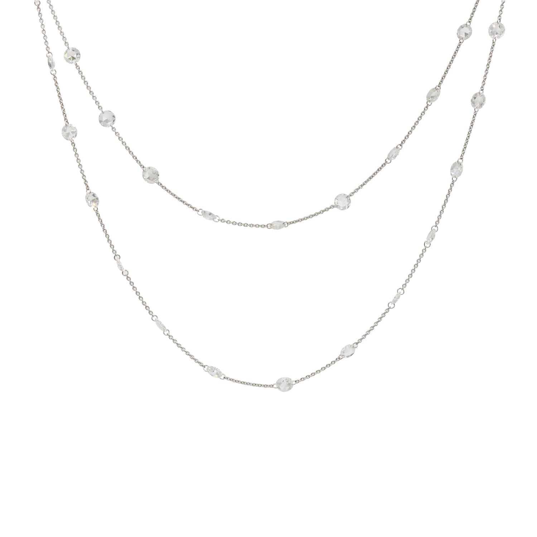 Rose Cut Diamond Station Chain Style N-41362-FL-0-0