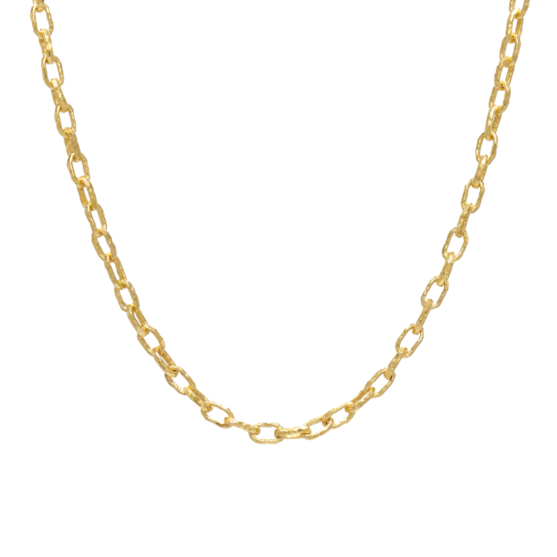 "22K Yellow Gold ""Cadene 15"" Chain by Jean Mahie, Serial FL41832"
