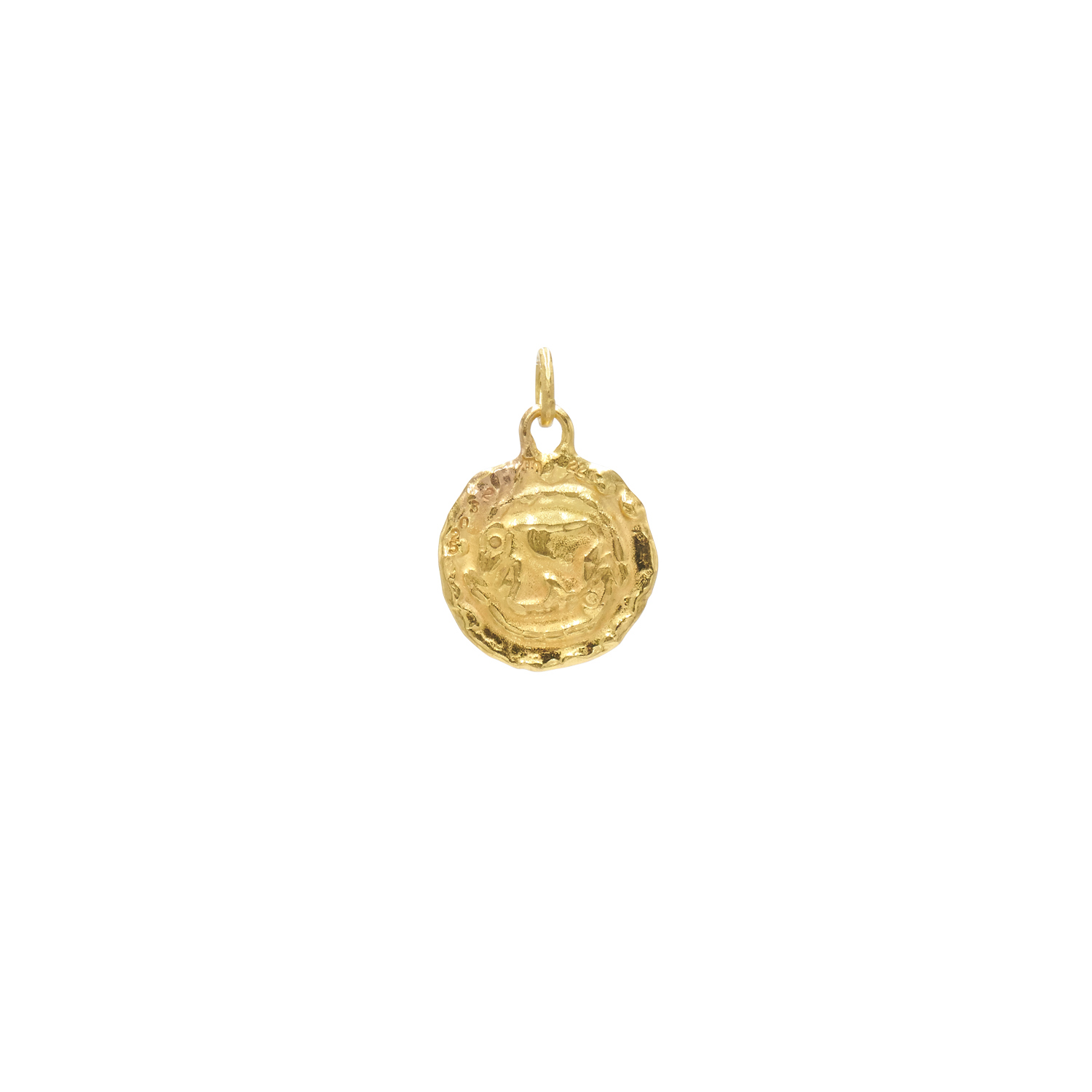 "22K Yellow Gold ""Pisces"" Pendant by Jean Mahie, Serial FL41839"