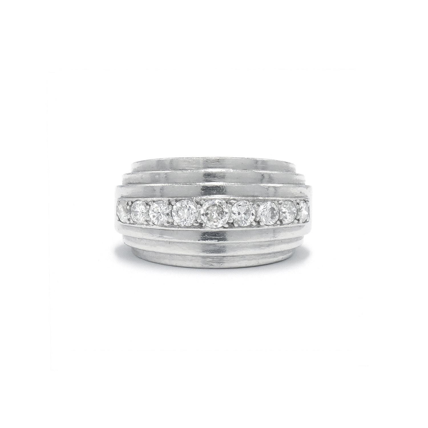 1930s Platinum and Diamond Ring by Rene Boivin Style R-38749-FL-0-0