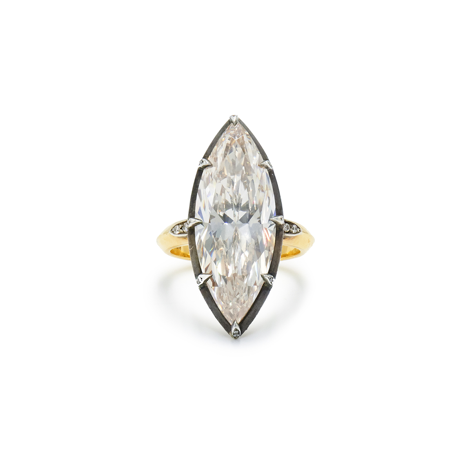 10.05ct Marquise Diamond Collet Ring Signed Fred Leighton Style R-39111-FL-0-0