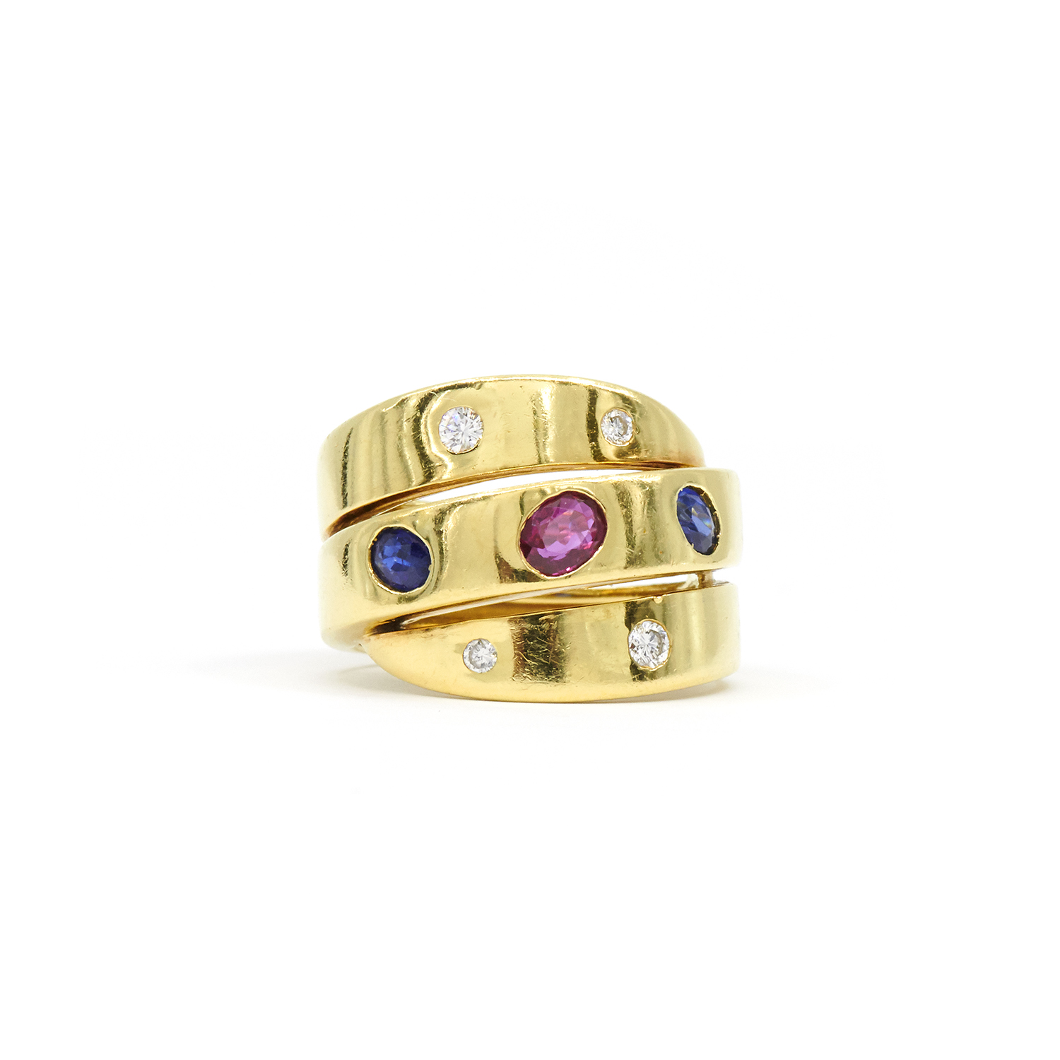 Ruby, Sapphire and Diamond Wrapped Ring by Van Cleef & Arpels Style R-39684-FL-0-0