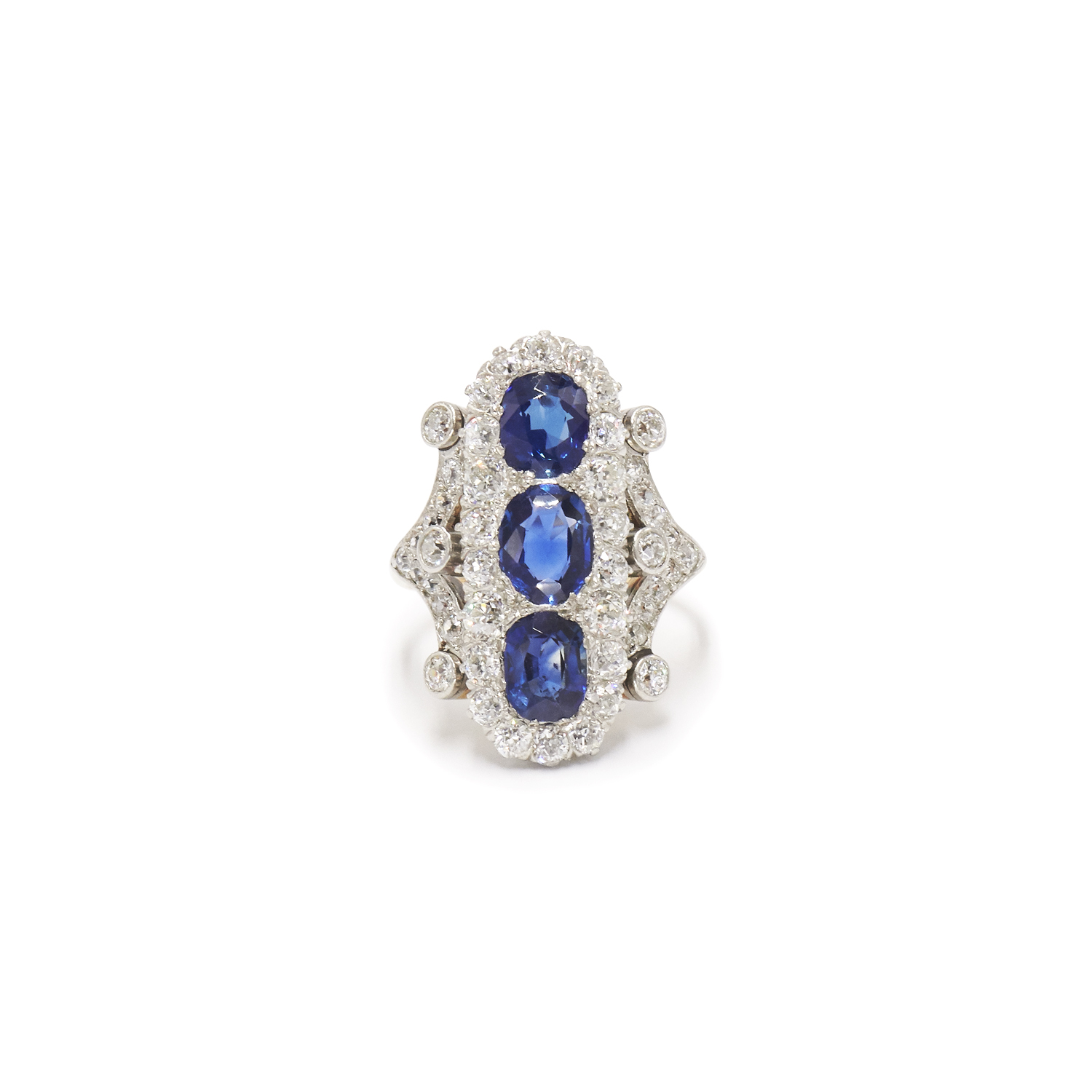 Edwardian Sapphire and Diamond Ring Style R-40064-0-0-0
