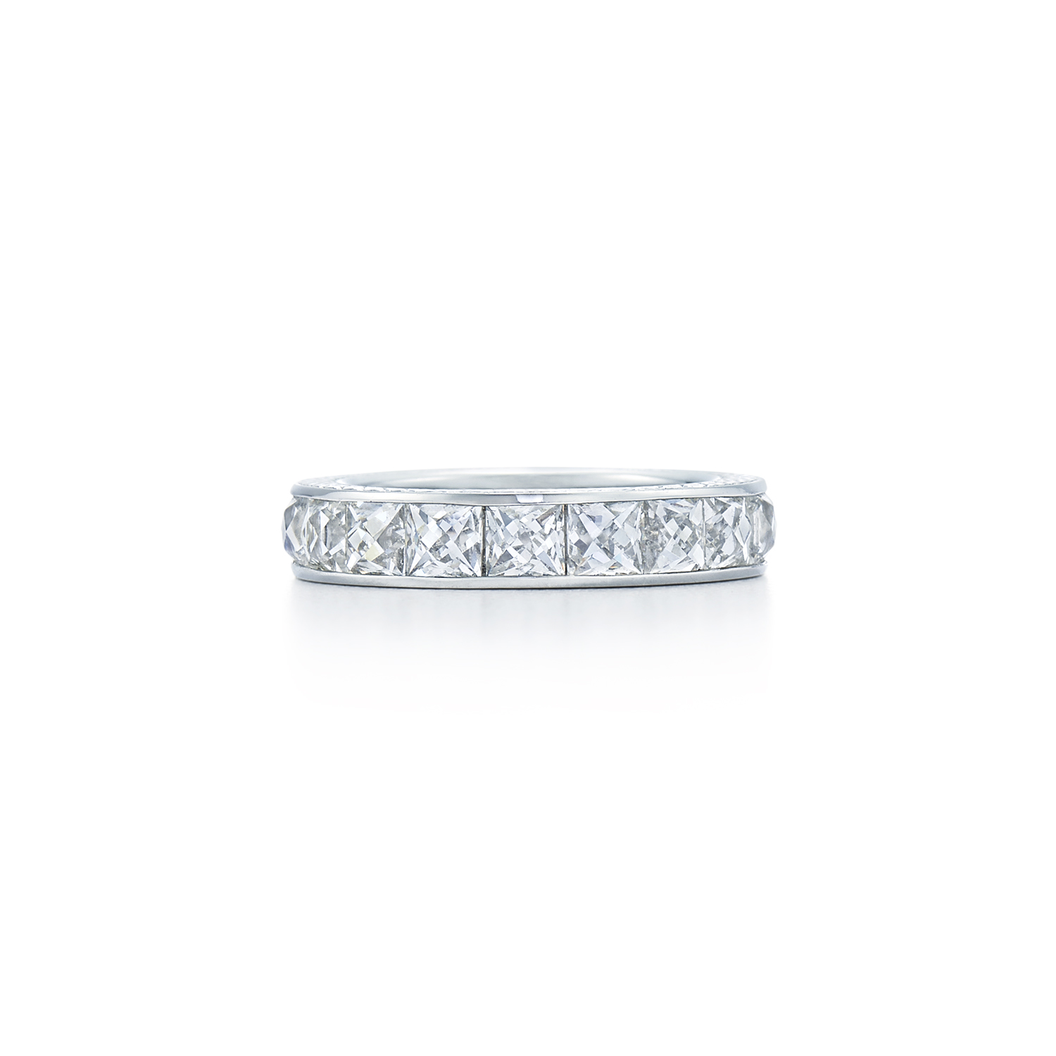 Signed Fred Leighton French Cut Diamond Eternity Band Ring R1008-DIA
